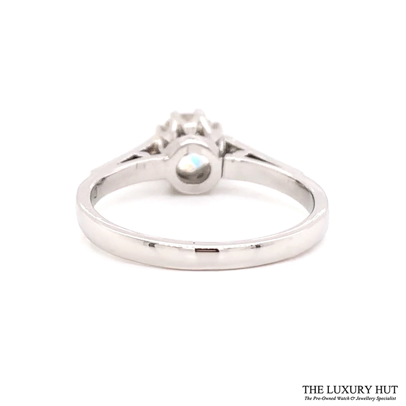 Platinum 0.60ct Brilliant Cut Solitaire Diamond Ring Order Online Today For Next Day Delivery