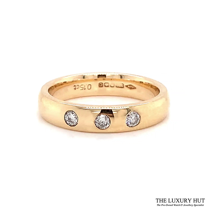 9ct Gold 0.15ct Diamond Wedding Band