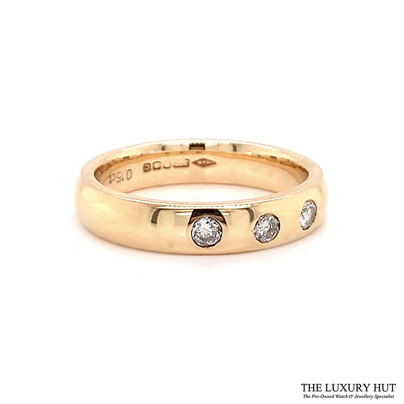 9ct Gold 0.15ct Diamond Wedding Band Ref 24615 Order Online