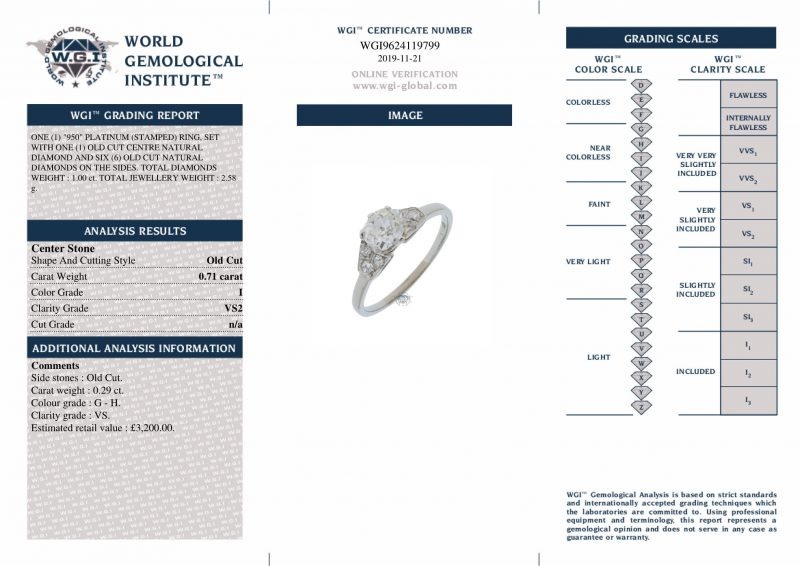 Platinum 1.00ct Diamond Solitaire Engagement Ring Ref 24653 Order Online Today