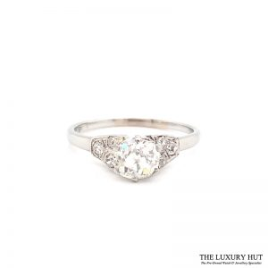 Platinum 1.00ct Diamond Solitaire Ring Ref 24653 Order Online Today