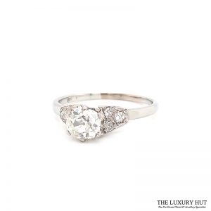 Platinum 1.00ct Diamond Solitaire Engagement Ring