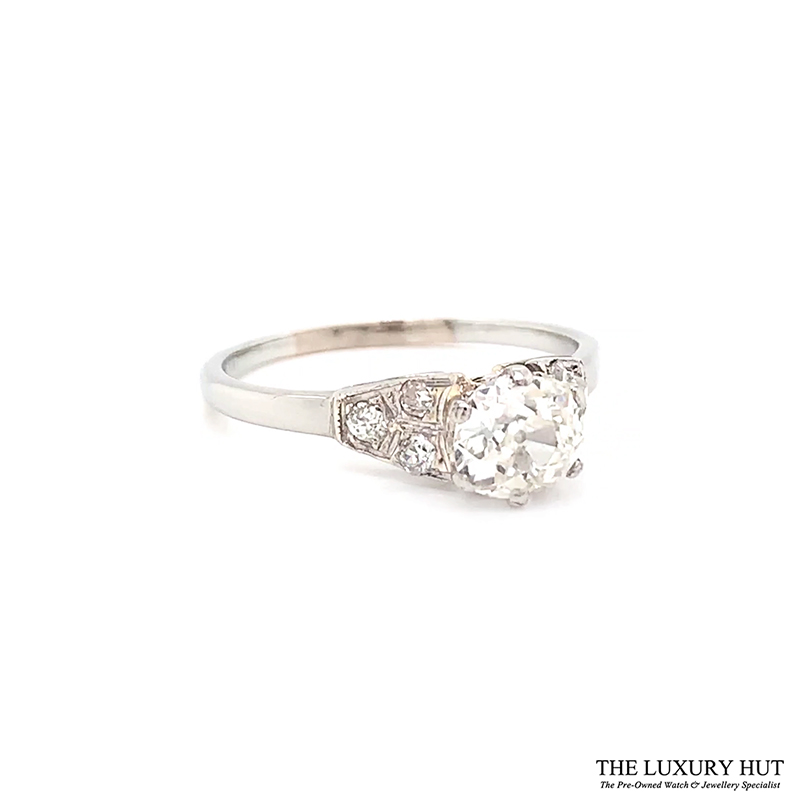 Platinum 1.00ct Diamond Solitaire Engagement Ring Ref 24653 Order Online Today For Next Day Delivery