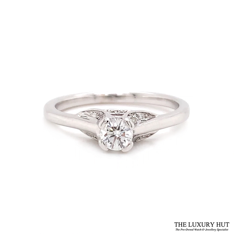 18ct White Gold 0.28ct Diamond Solitaire Engagement Ring Order Online Today For Next Day Delivery