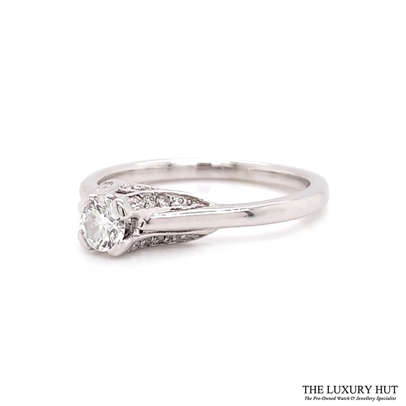 18ct White Gold 0.28ct Diamond Solitaire Engagement Ring Order Online Today For Next Day
