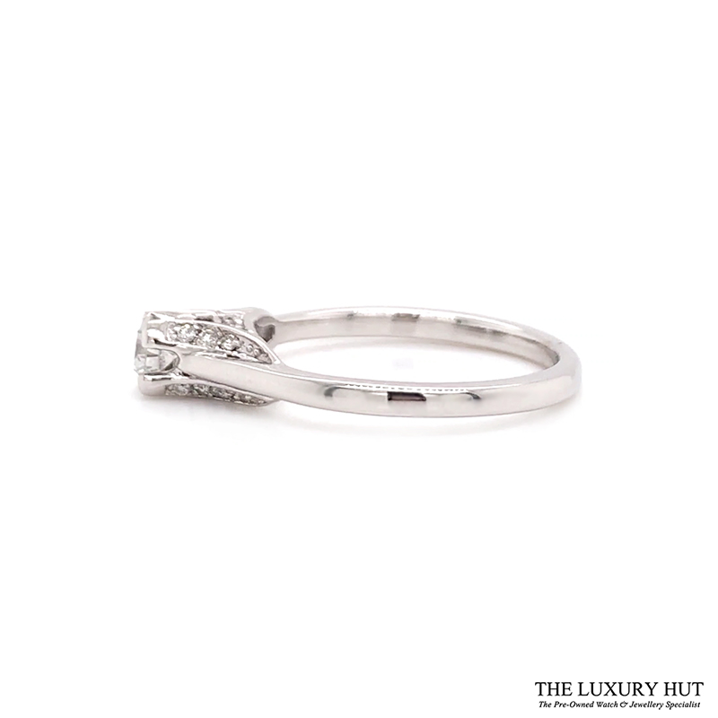 18ct White Gold 0.28ct Diamond Solitaire Engagement Ring Order Online