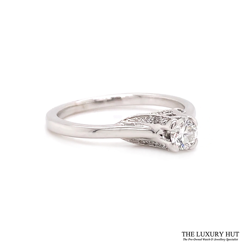 18ct White Gold 0.28ct Diamond Solitaire Ring Order Online Today