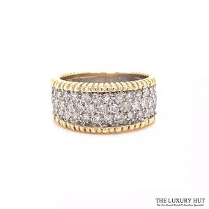 18ct White & Yellow Gold 1.50ct Diamond Band Ring Ref 24691 Order Online Today For Next Day delivery