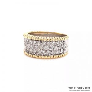 18ct White & Yellow Gold 1.50ct 18ct White & Yellow Gold 1.50ct Diamond Band Ring Ref 24691 Order Online Today For Next DayBand Ring Ref 24691