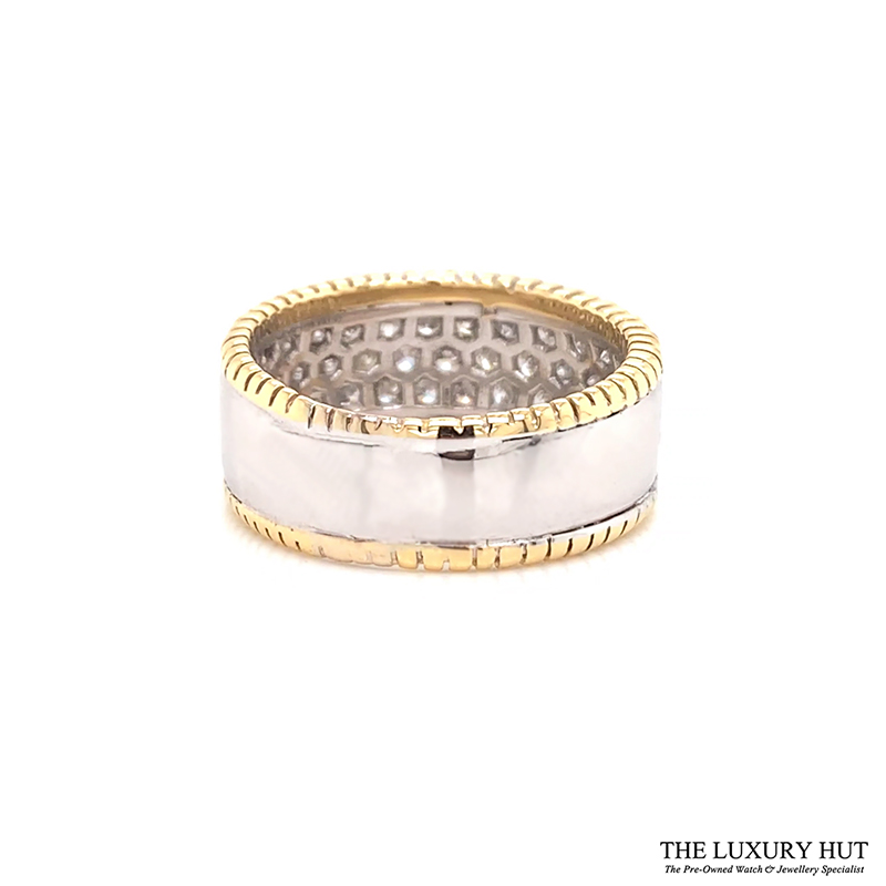 18ct White & Yellow Gold 1.50ct Diamond Band Ring Ref 24691 Order Online