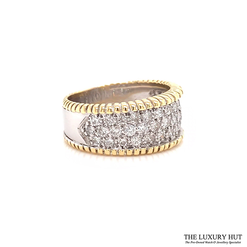 18ct White & Yellow Gold 1.50ct Diamond Band Ring Ref 24691 Order Online Today For Next Day