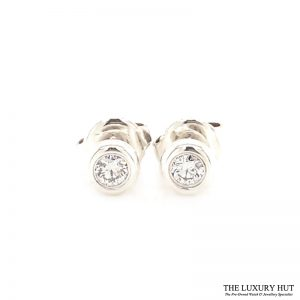 Shop Tiffany Silver Elsa Peretti Diamond Earrings t - Order Online Today For Next Day Delivery