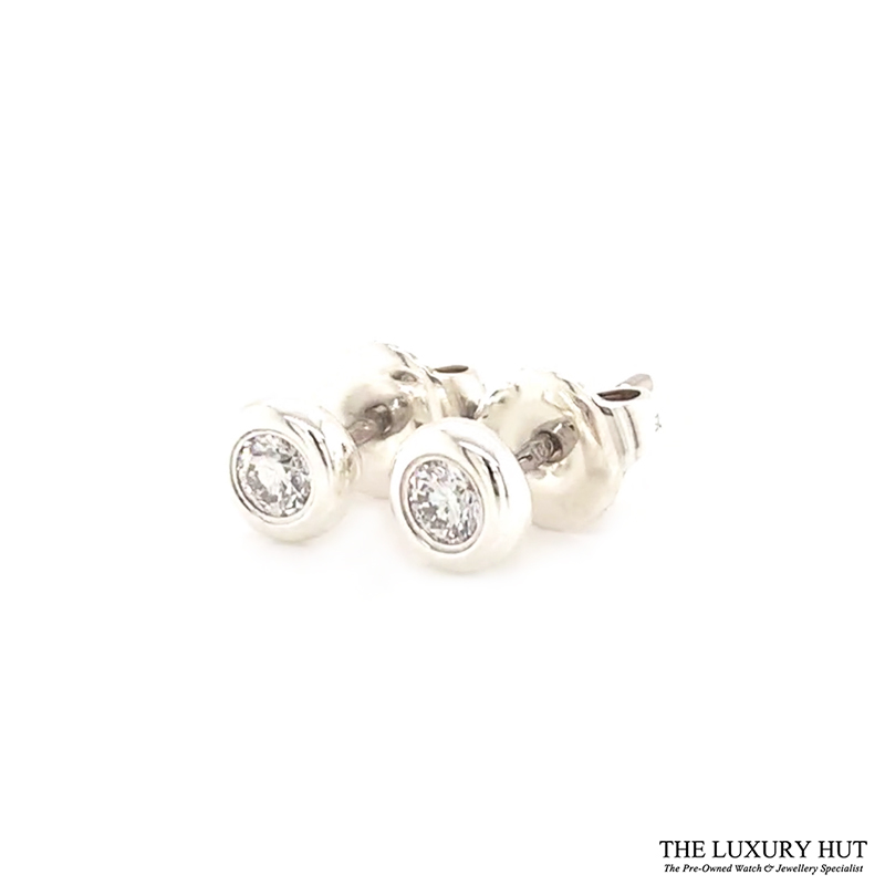 Shop Tiffany Silver Elsa Peretti Diamond Earrings t - Order Online Today For Next Day