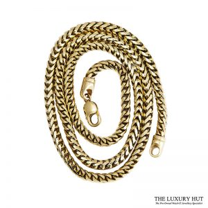 Heavy 9ct Yellow Gold Round Foxtail Link Necklet Ref 24905 Order Online Today For Next Day
