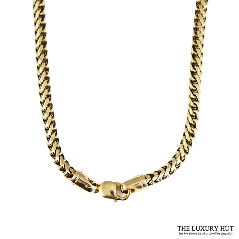Heavy 9ct Yellow Gold Round Foxtail Link Necklet Ref 24905 Order Online