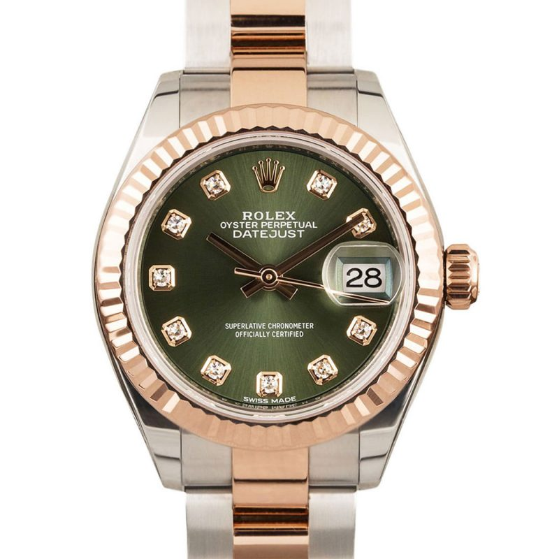 Rolex Lady Datejust Ref: 279171 Olive Green Dial - Order Online