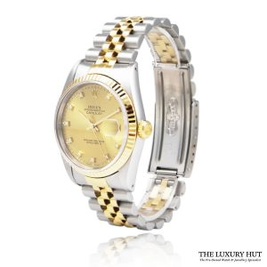 Rolex Steel & Gold Diamond Dial DateJust Watch Ref 16233 Order Online Today For Next Day