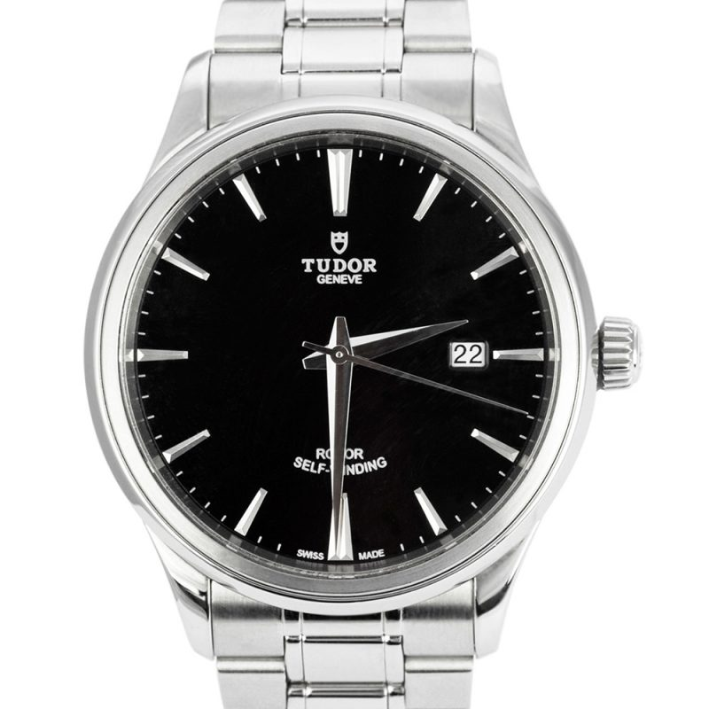 Tudor Style Steel Black Dial 41mm Ref: M12700-0011 Watch - Order Online Today For Next Day Delivery
