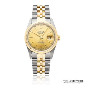 Rolex Steel & Gold Oyster Perpetual DateJust Watch Ref 16233 Order Online Today For Next Day Delivery
