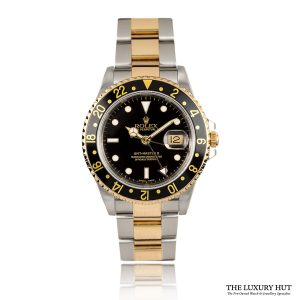 Rolex GMT Master II 40mm Black Dial Steel & Gold Ref: 16713 - Order Online Today For Next Day Delivery