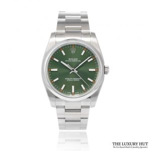 Rolex Oyster Perpetual Olive Green 34 Ref:114200 - 2015 Full Set - Order Online Today For Next Day Delivery