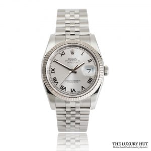 Rolex Datejust 116234 Steel Silver Roman Dial - 2017 - Full Set - Order Online Today For Next Day Delivery