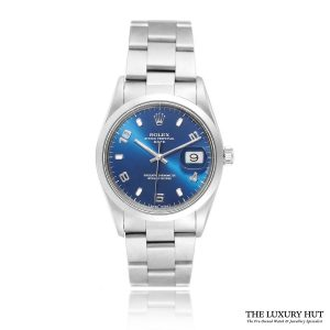 Rolex Oyster Perpetual Date 34mm Blue 15200 - 2003 Full Set - Order Online Today For Next Day Delivery