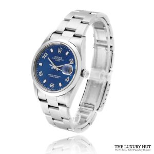 Rolex Oyster Perpetual Date 34mm Blue 15200 - 2003 Full Set - Order Online Today For Next Day