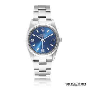 Rolex Air-King Steel 34mm Blue Dial Ref: 14000 - 2000 Full Set - Order Online Today For Next Day Delivery