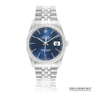 Rolex Datejust 16220 Steel 36mm Blue Dial - 2005 Full Set - Order Online Today For Next Day Delivery