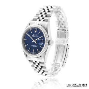 Rolex Datejust 16220 Steel 36mm Blue Dial - 2005 Full Set - Order Online Today For Next Day