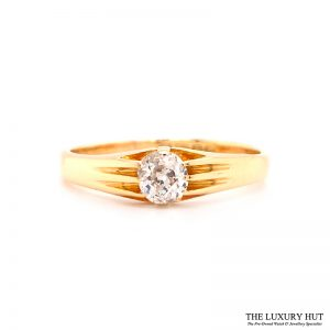 Shop Vintage 18ct Yellow Gold & Diamond Engagement Ring - Order Online Today For Next Day Delivery