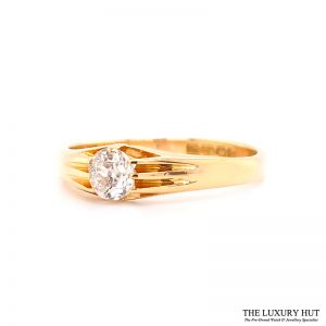Shop Vintage 18ct Yellow Gold & Diamond Engagement Ring - Order Online Today For Next Day