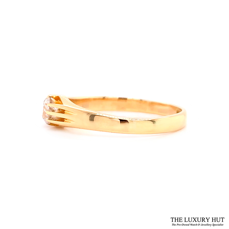 Shop Vintage 18ct Yellow Gold & Diamond Engagement Ring - Order Online