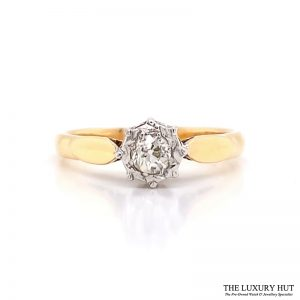 Shop 18ct Yellow & White Gold Diamond Solitaire - Order Online Today for Next Day Delivery