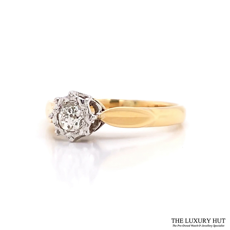 Shop 18ct Yellow & White Gold Diamond Solitaire - Order Online Today for Next Day