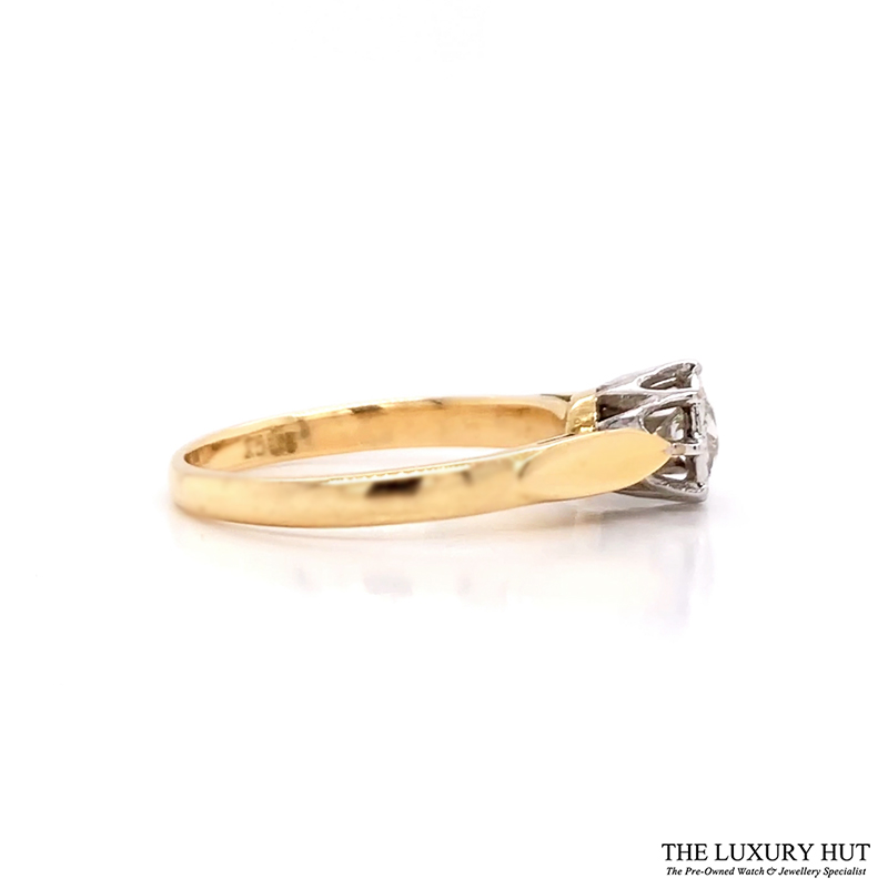 Shop 18ct Yellow & White Gold Diamond Solitaire -