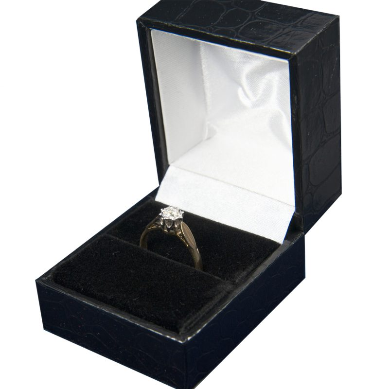 Shop 18ct Yellow & White Gold Diamond Solitaire - Order Online Today Delivery