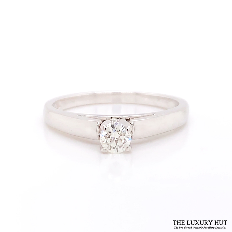 Shop 14ct White Gold Gold Solitare Diamond Ring - Order Online Today for Next Day Delivery