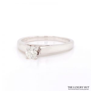 Shop 14ct White Gold Gold Solitare Diamond Ring - Order Online Today for Next Day