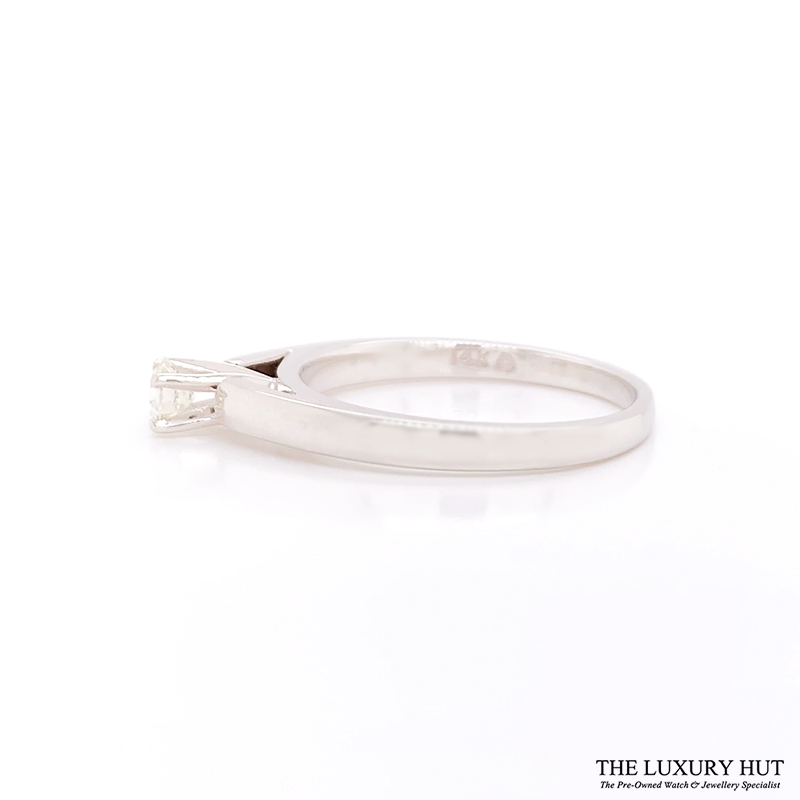 Shop 14ct White Gold Gold Solitare Diamond Ring - Order Online