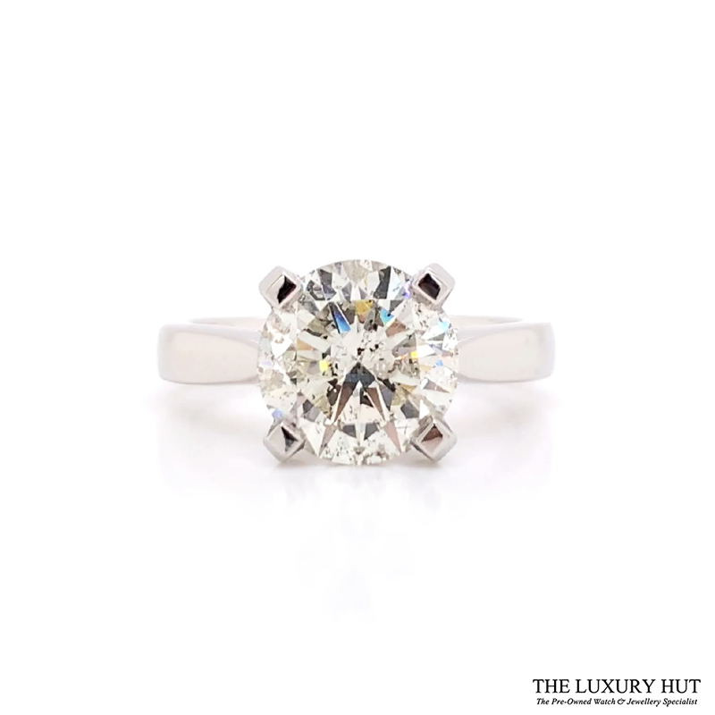Platinum 3.00ct Diamond Solitaire Engagement Ring - Order Online Today For Next Day Delivery - Sell Your Diamond Jewellery To The Luxury Hut London