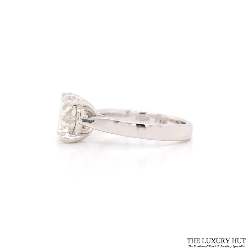 Platinum 3.00ct Diamond Solitaire Engagement Ring - Order Online Today For Next Day Delivery - Sell