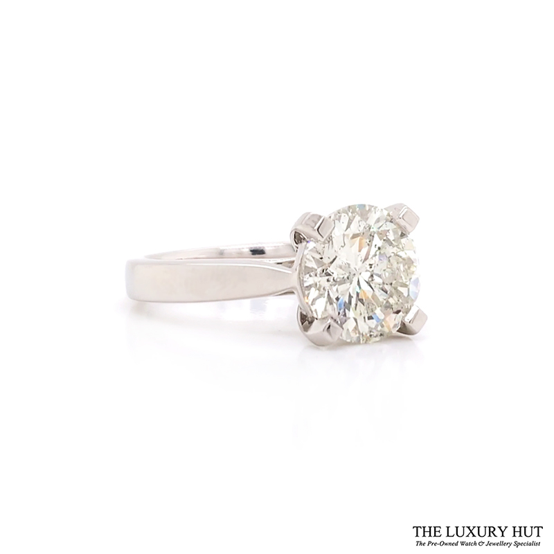 Platinum 3.00ct Diamond Solitaire Engagement Ring - Order Today