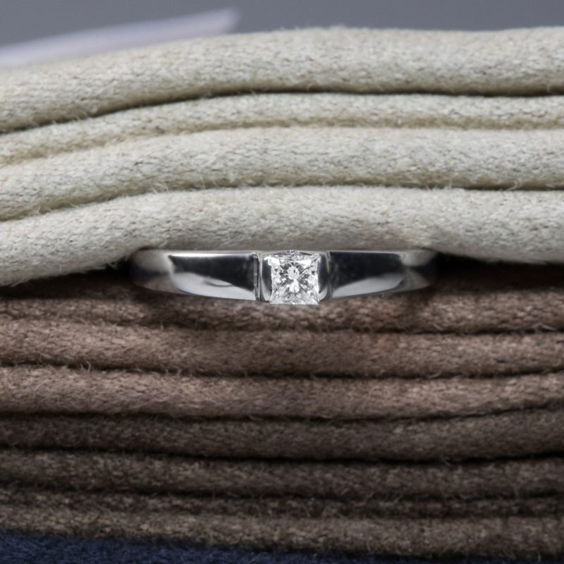 Shop 18ct Gold Princess Cut Diamond Ring - Order Online Today for Next Day Delivery