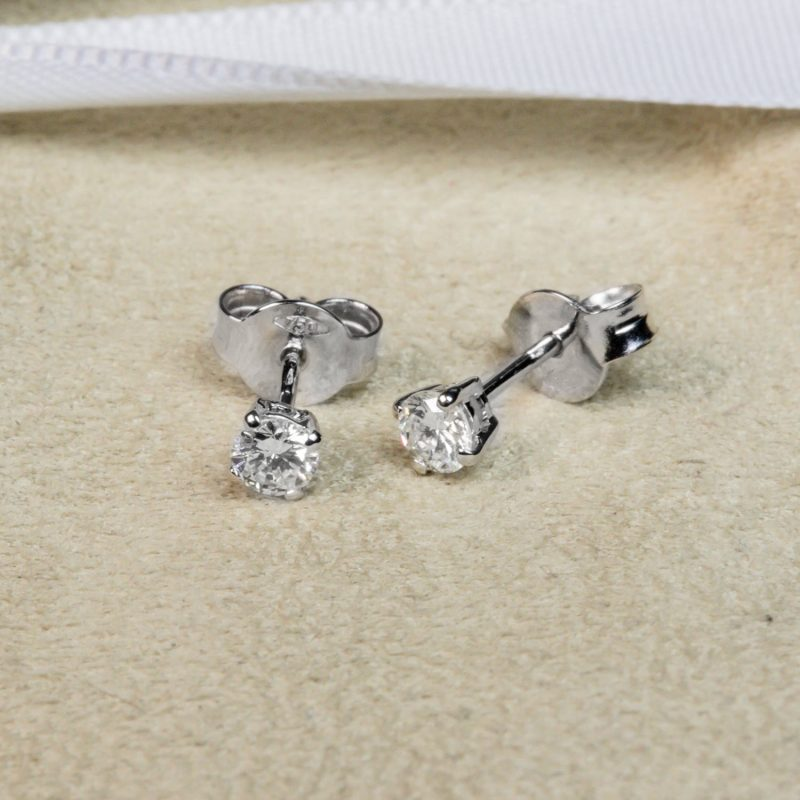 Shop 18CT White Gold Diamond Stud earring - Order Online Today for Next Day Delivery - Sell Your Diamond Jewellery to the Luxury Hut