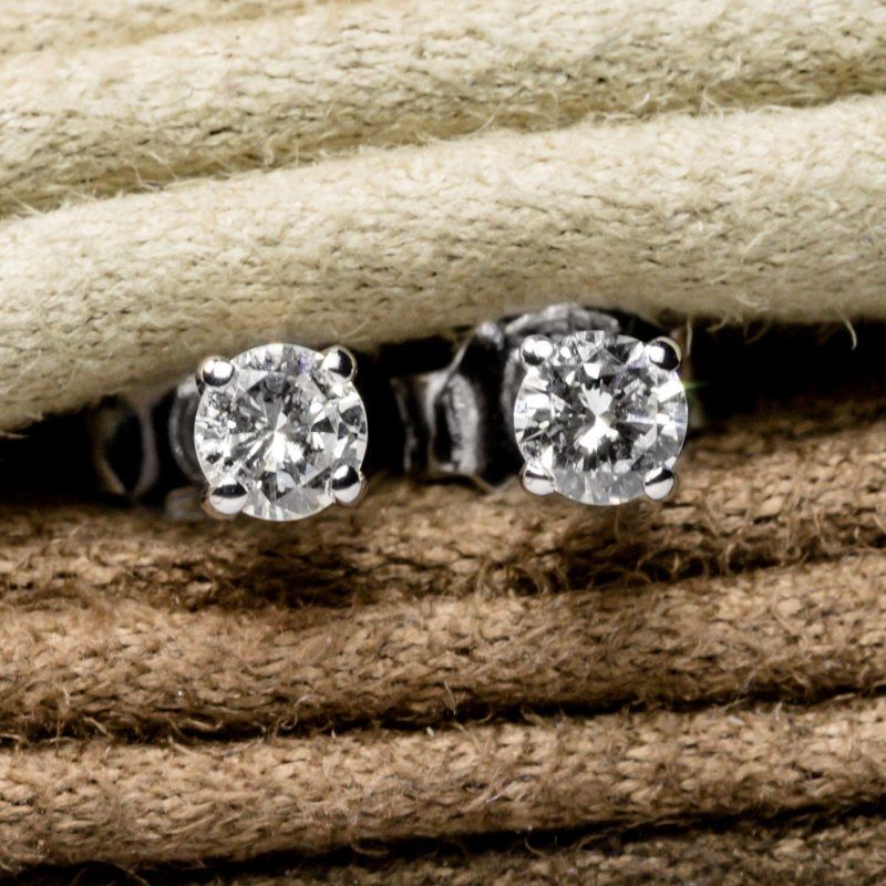Shop 18CT White Gold Diamond Stud earring - Order Online Today for Next Day Delivery - Sell Your Diamond Jewellery