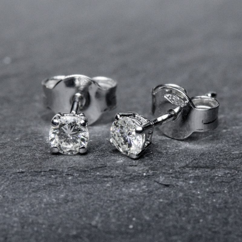 Shop 18CT White Gold Diamond Stud earring - Order Online Today for Next Day Delivery