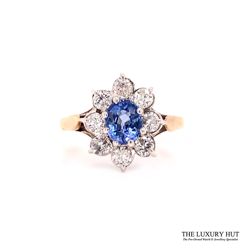 Shop 9ct Gold Certified Diamond & Tanzanite Ring - Order Online Today For Next Day Delivery - Sell Your Diamond Jewellery To The Luxury Hut