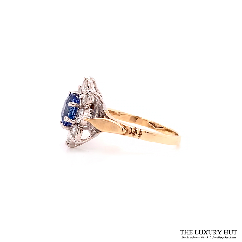 Shop 9ct Gold Certified Diamond & Tanzanite Ring - Order Online Today For Next Day Delivery - Sell